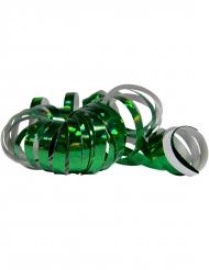Luftschlangen Karneval-Deko glitzer 2 Stück dunkelgrün 4 m