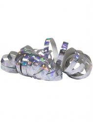 Party-Luftschlangen holographisch 2 Stück silber jeweils 4 m