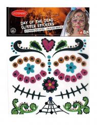 Dia de los muertos-Sticker Calavera-Aufkleber bunt