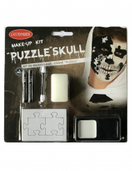 Puzzle-Make-up-Set schwarz-weiss