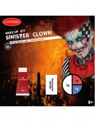 Schauriges Killerclown-Make-up-Set für Erwachsene bunt