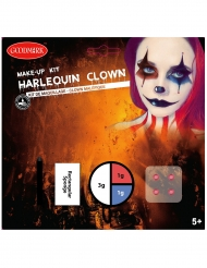 Harlekin Make-up für Halloween Schmink-Set 4-teilig bunt