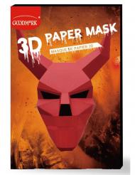 3D-Teufelmaske für Halloween Papiermaske rot