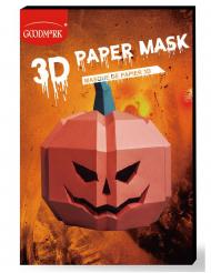 Kürbis-Maske 3D Polygon-Maske für Halloween orangefarben