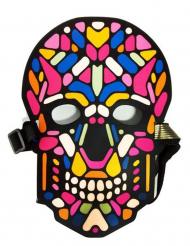 Skelett-Maske mit Licht und Sound-Funktion Halloween bunt