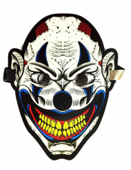 Schaurige Harlekin-Maske mit Lichtakkustik Halloween-Zubehör