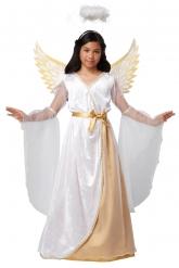 Traumhaftes Engel-Kostüm für Mädchen weiss-gold