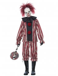 Fürchterliches Clownkostüm für Halloween Herrenkostüm bunt