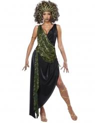 Prachtvolles Medusa-Kostüm Antike-Verkleidung für Damen schwarz-gold