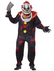 Extravagantes Killer-Clownkostüm für Herren schwarz-bunt