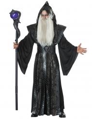 Dunkler Magier Hexenkostüm für Herren Halloween schwarz