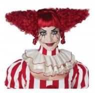 Schrille Horrorclown-Perücke für Damen Halloween rot