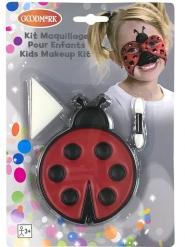 Marienkäfer-Makeup-Set für Kinder 3-teilig schwarz-rot 7,2 g