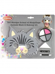 Makeup-Set Katze für Kinder 5-teilig bunt