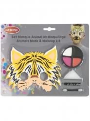 Tiger-Makeup-Set für Kinder 5-teilig bunt