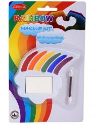 Regenbogen Makeup-Kit 3-teilig bunt