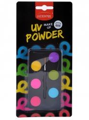 Nachtleuchtendes UV-Schminkset 2-teilig bunt 6 x 1 g