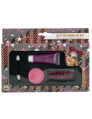Glitzer Make-up Set 4-teilig rosa
