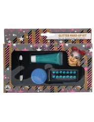 Glitzer Make-up Kit 4-teilig blau