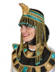 Ägyptische-Kopfbedeckung Accessoire für Erwachsene gold-blau