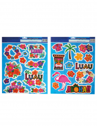 Hawaii Sticker Aloha 2 Bögen Partydeko