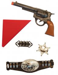 Cowboy-Set Spielzeug für Kinder Faschings-Zubehör 5-teilig bunt