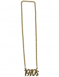 Halskette aus den 70er-Jahren Accessoire für Erwachsene goldfarben