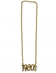 Halskette aus den 80er-Jahren Schmuck 1980 goldfarben