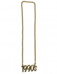Halskette aus den 90er-Jahren Accessoire goldfarben