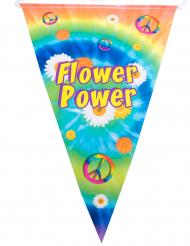 Flower Power-Girlande Hippie-Raumdekoration bunt 5 m