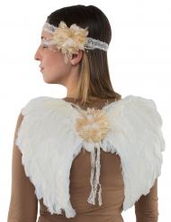 Himmlisches Engel-Set 2-teiliges Accessoire für Kinder weiss-beige