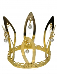 Krone Kostüm-Accessoire Mittelalter für Damen gold