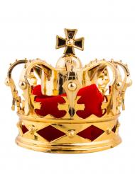 Miniatur-Krone-Kostümzubehör für Erwachsene gold-rot