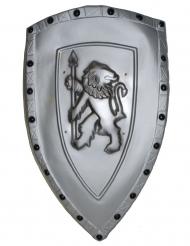 Ritter-Schild mit Löwe grau 72x42cm