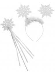Kostüm-Set Schnee-Engel Accessoire für Weihnachten 2-teilig weiss