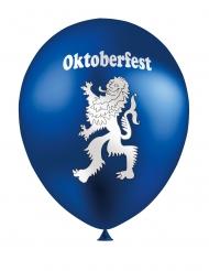 Oktoberfest-Ballons mit Wappen Raumdekoration 12 Stück blau