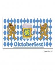 Oktoberfest Fahne 60x 90 cm blau-weiss
