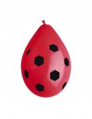 Marienkäfer-Ballons Partyzubehör für Kinder 10 Stück schwarz-rot 30 cm