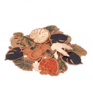 80 Dinosaurier Konfetti braun-gold 3-4 cm