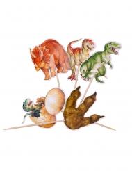 20 Dinosaurier-Piekser Tischdeko 12,5 cm