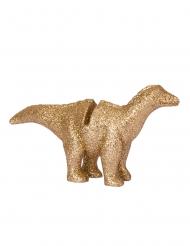 Dinosaurier-Platzkarten-Halter für Geburtstage 4 Stück gold 9,5 x 5 cm