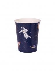 Weltraum-Pappbecher Tischzubehör 8 Stück bunt 250 ml