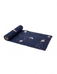 Astronauten-Tischläufer Sternenbild blau-bunt 5 m