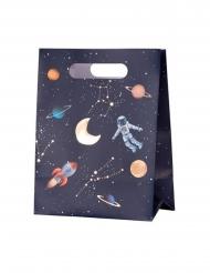 Geschenktüten aus dem Weltall Astronauten-Zubehör 4 Stück bunt 20 x 15 x 9 cm