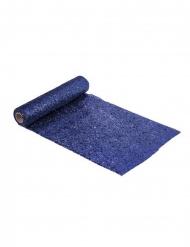 Glänzender Tischläufer für Feierlichkeiten blau 3 m
