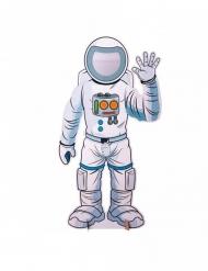 Astronaut-Fotofigur für Mottopartys bunt 130 x 70 cm