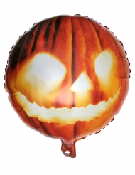 Kürbis-Folienballon Raumdekoration Halloween orange 35 x 18 cm