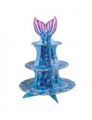 Cupcake-Ständer mit Meerjungfrauen Tischzubehör bunt 40 cm