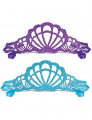 Zauberhaftes Muschel-Diadem für Meerjungfrauen 6 Stück blau-lila