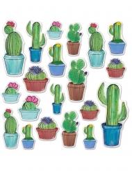 20 Kaktus Wandbilder aus Pappkarton 7-38 cm